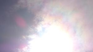Unusual Rainbows around Sun