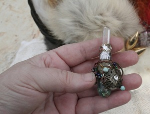 Small Orgone Crystal Wand - Turq Antiq